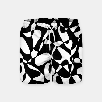 Miniatur Abstract pattern - black and white. Swim Shorts, Live Heroes