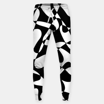 Imagen en miniatura de Abstract pattern - black and white. Sweatpants, Live Heroes