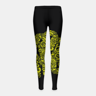 Miniatur Green Tentacles Girl's leggings, Live Heroes