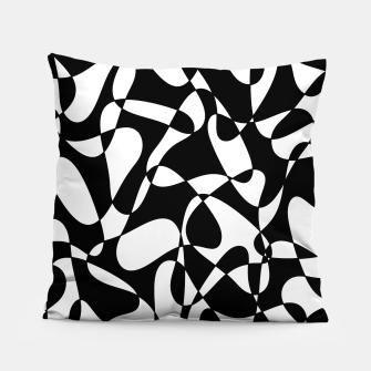 Miniatur Abstract pattern - black and white. Pillow, Live Heroes