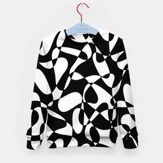 Miniatur Abstract pattern - black and white. Kid's sweater, Live Heroes