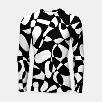 Miniatur Abstract pattern - black and white. Longsleeve rashguard , Live Heroes