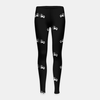Miniaturka Black and White Boxing Motif Pattern Girl's leggings, Live Heroes