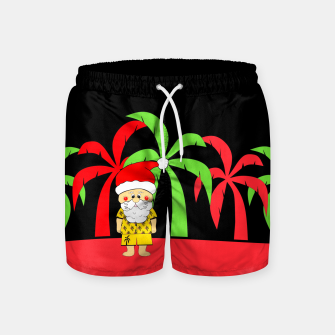 Thumbnail image of Tropical Christmas Swim Shorts, Live Heroes