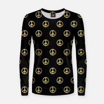 Miniatur Gold Peace Women sweater, Live Heroes