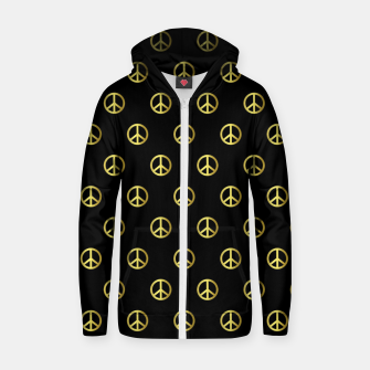 Miniatur Gold Peace Zip up hoodie, Live Heroes