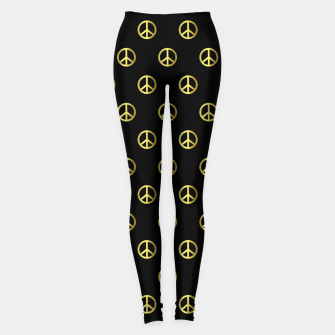 Thumbnail image of Gold Peace Leggings, Live Heroes