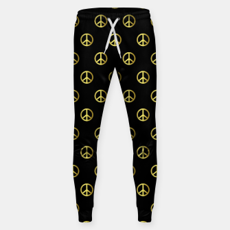 Miniatur Gold Peace Sweatpants, Live Heroes