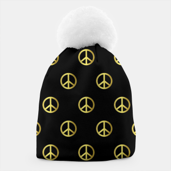 Thumbnail image of Gold Peace Beanie, Live Heroes