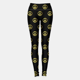 Miniatur Gold Peace Leggings, Live Heroes