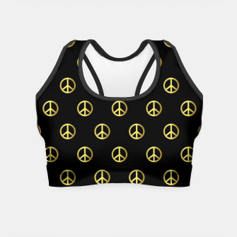 Miniatur Gold Peace Crop Top, Live Heroes