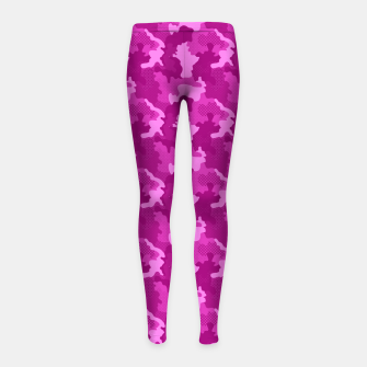 Thumbnail image of Camouflage III Girl's leggings, Live Heroes