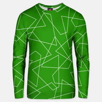 Miniaturka Abstract geometric pattern - green and white. Unisex sweater, Live Heroes