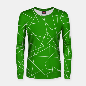 Miniaturka Abstract geometric pattern - green and white. Women sweater, Live Heroes