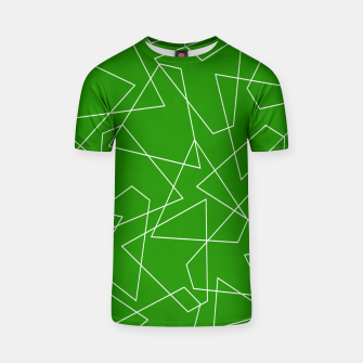 Miniaturka Abstract geometric pattern - green and white. T-shirt, Live Heroes
