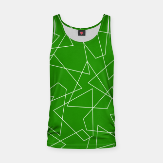 Miniaturka Abstract geometric pattern - green and white. Tank Top, Live Heroes