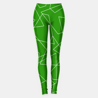 Miniaturka Abstract geometric pattern - green and white. Leggings, Live Heroes