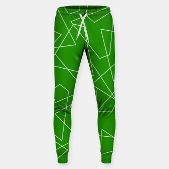 Imagen en miniatura de Abstract geometric pattern - green and white. Sweatpants, Live Heroes