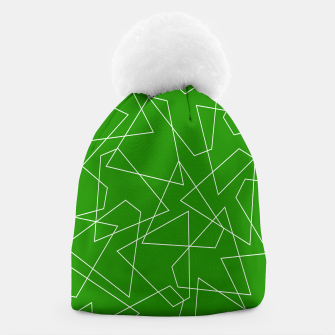 Miniaturka Abstract geometric pattern - green and white. Beanie, Live Heroes
