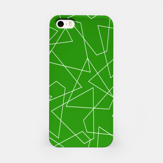 Thumbnail image of Abstract geometric pattern - green and white. iPhone Case, Live Heroes