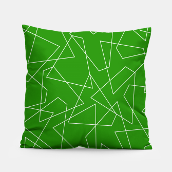 Imagen en miniatura de Abstract geometric pattern - green and white. Pillow, Live Heroes