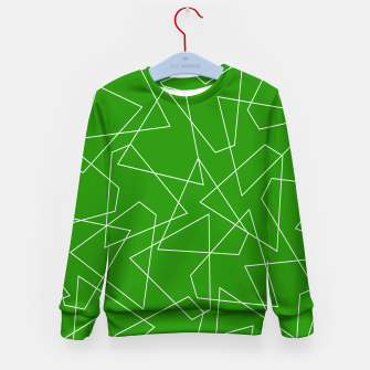 Miniaturka Abstract geometric pattern - green and white. Kid's sweater, Live Heroes