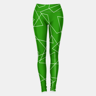 Miniatur Abstract geometric pattern - green and white. Leggings, Live Heroes