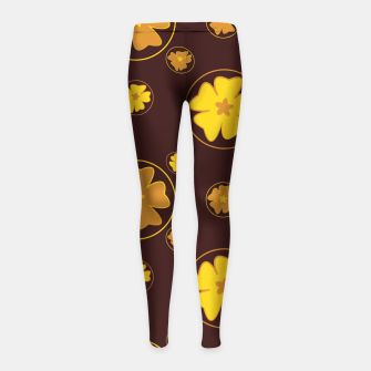Thumbnail image of Vintage combination 2-4 Leggings para niña, Live Heroes