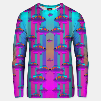 Miniatur tropical rainbow fishes  in meadows of seagrass Unisex sweater, Live Heroes