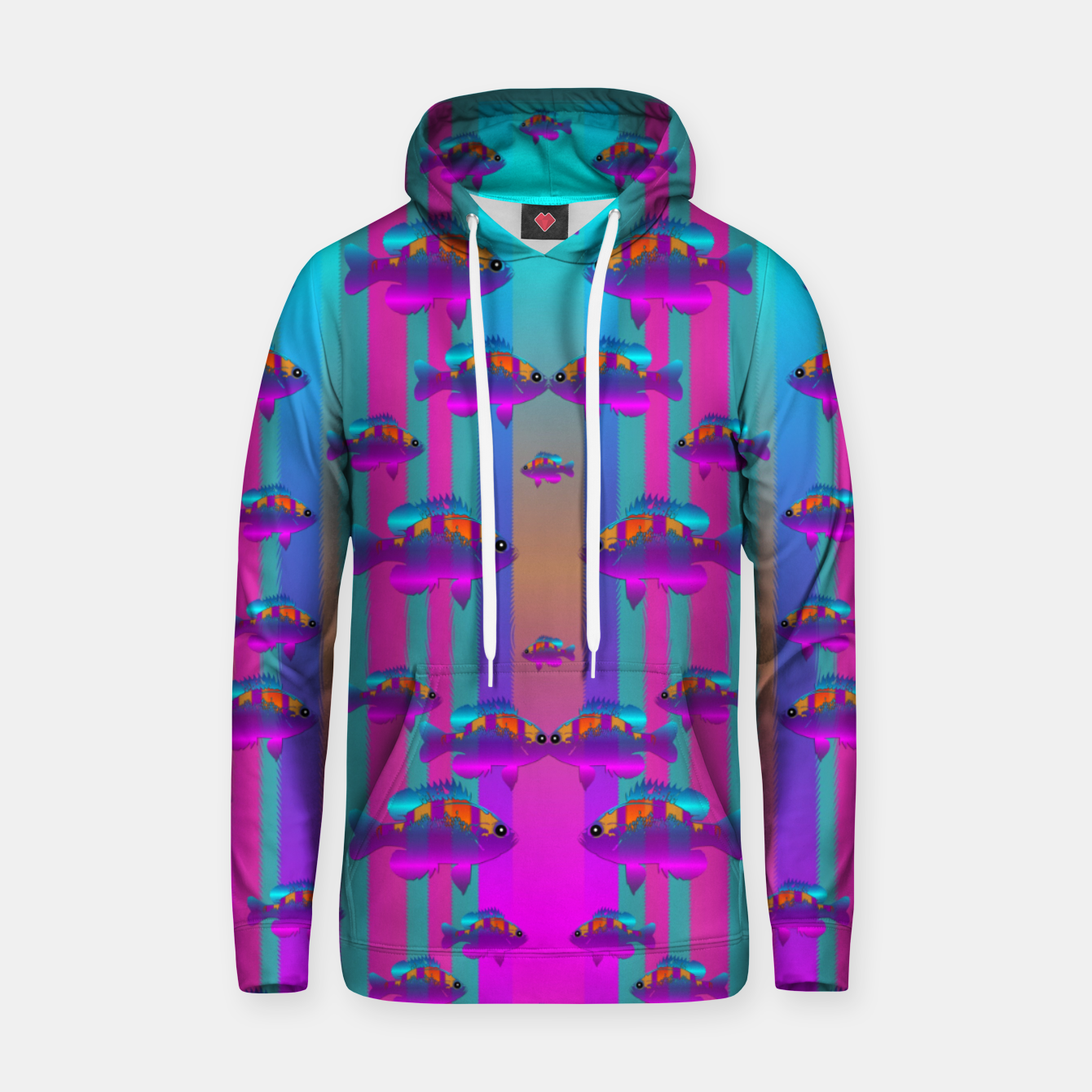 Image of tropical rainbow fishes  in meadows of seagrass Hoodie - Live Heroes