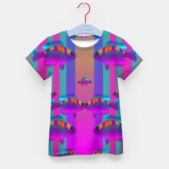 tropical rainbow fishes  in meadows of seagrass Kid's t-shirt thumbnail image
