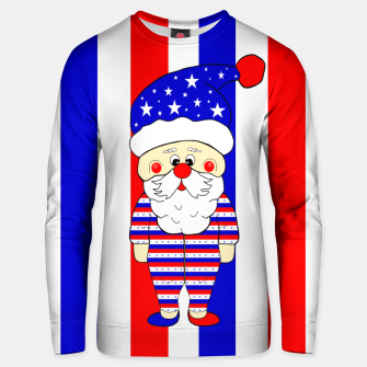 Thumbnail image of Patriotic Santa USA Unisex sweater, Live Heroes