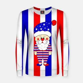 Thumbnail image of Patriotic Santa USA Women sweater, Live Heroes