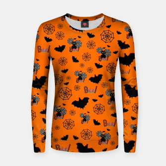Thumbnail image of Halloween Black Cats Women sweater, Live Heroes