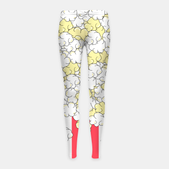 Thumbnail image of Buttered Popcorn Girl's leggings, Live Heroes