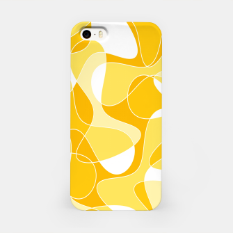 Thumbnail image of Abstract pattern - orange and white. iPhone Case, Live Heroes