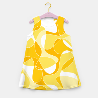 Miniatur Abstract pattern - orange and white. Girl's summer dress, Live Heroes