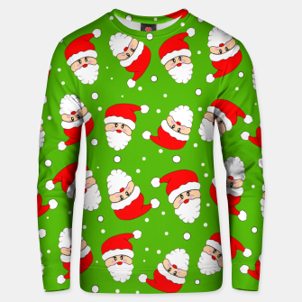 Thumbnail image of Whirling Santa Green Unisex sweater, Live Heroes