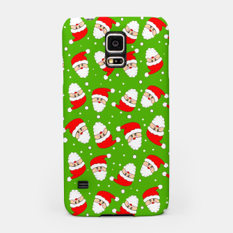 Miniatur Whirling Santa Green Samsung Case, Live Heroes