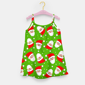 Miniatur Whirling Santa Green Girl's dress, Live Heroes