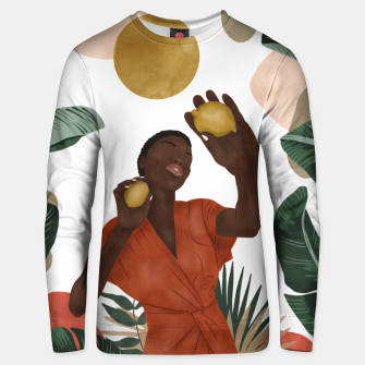 Woman with lemons Sudadera unisex Bild der Miniatur