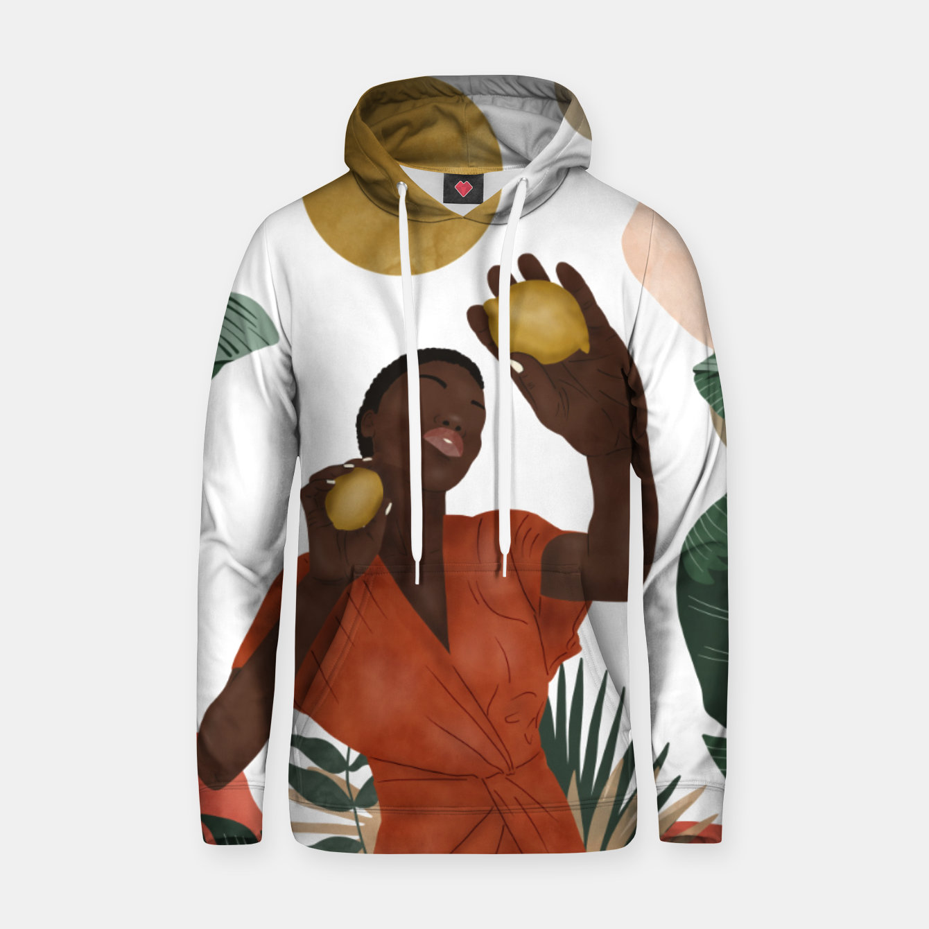 Image of Woman with lemons Sudadera con capucha - Live Heroes