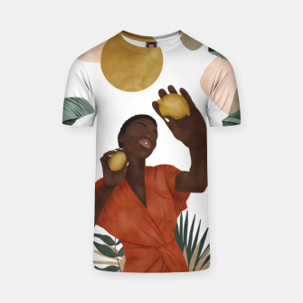 Woman with lemons Camiseta Bild der Miniatur