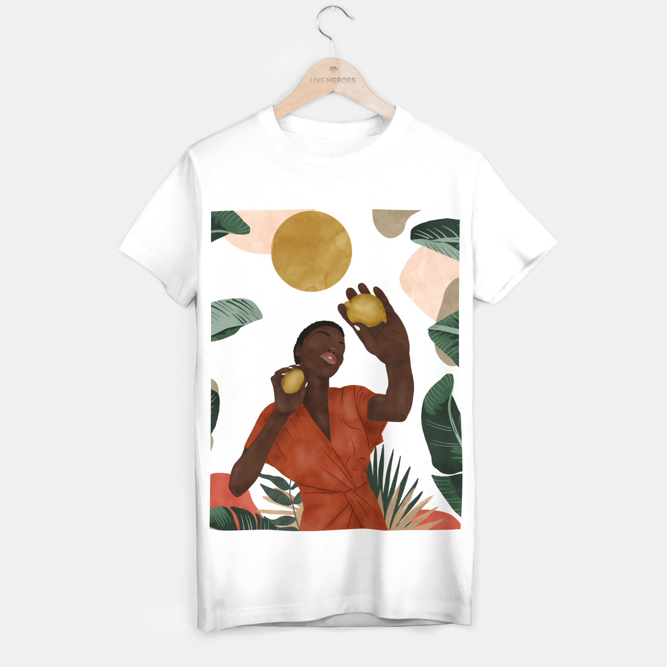 Image of Woman with lemons Camiseta Regular - Live Heroes