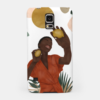 Woman with lemons Carcasa por Samsung thumbnail image