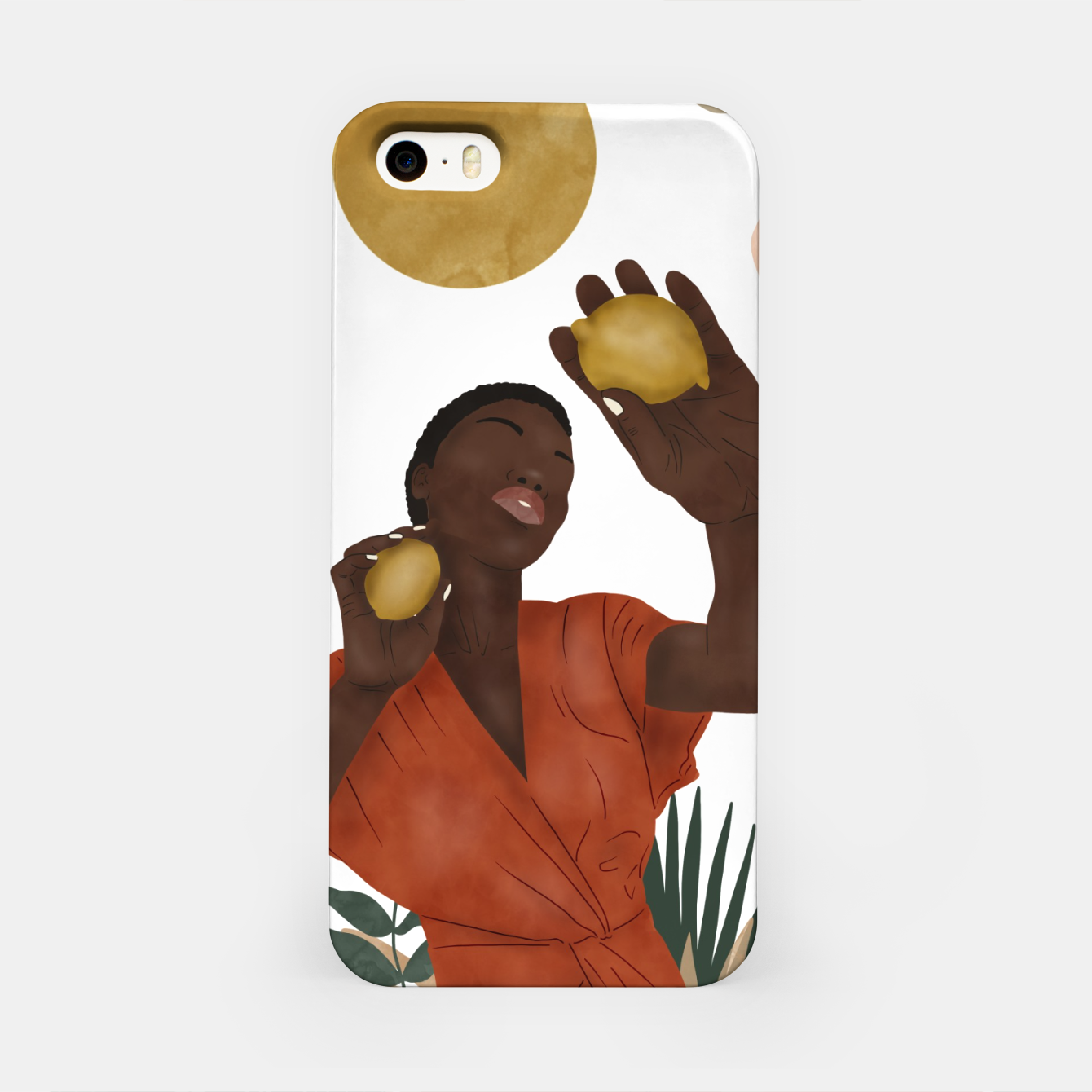 Image of Woman with lemons Carcasa por Iphone - Live Heroes
