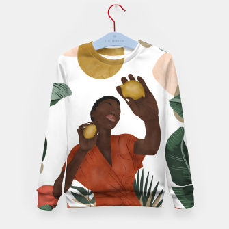 Thumbnail image of Woman with lemons Sudadera para niños, Live Heroes