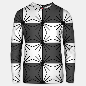 Thumbnail image of Abstract geometric pattern - gray and white. Unisex sweater, Live Heroes