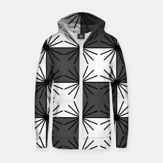 Thumbnail image of Abstract geometric pattern - gray and white. Zip up hoodie, Live Heroes