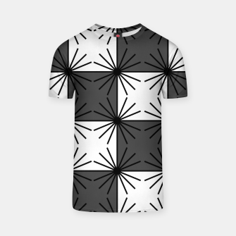 Thumbnail image of Abstract geometric pattern - gray and white. T-shirt, Live Heroes